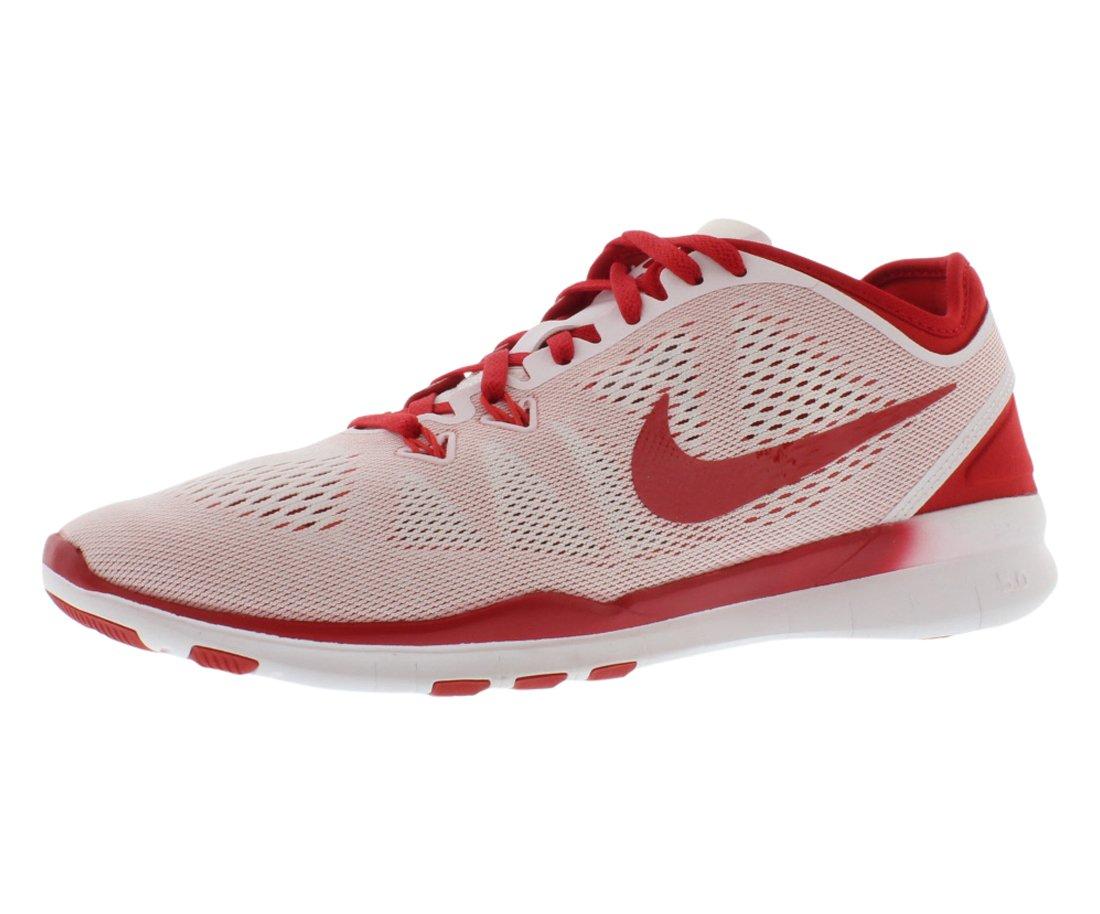 NIKE Women's Free 5.0 TR Fit 5 Training Shoe B00Q5YHUWG 5 B(M) US|White/Gym Red