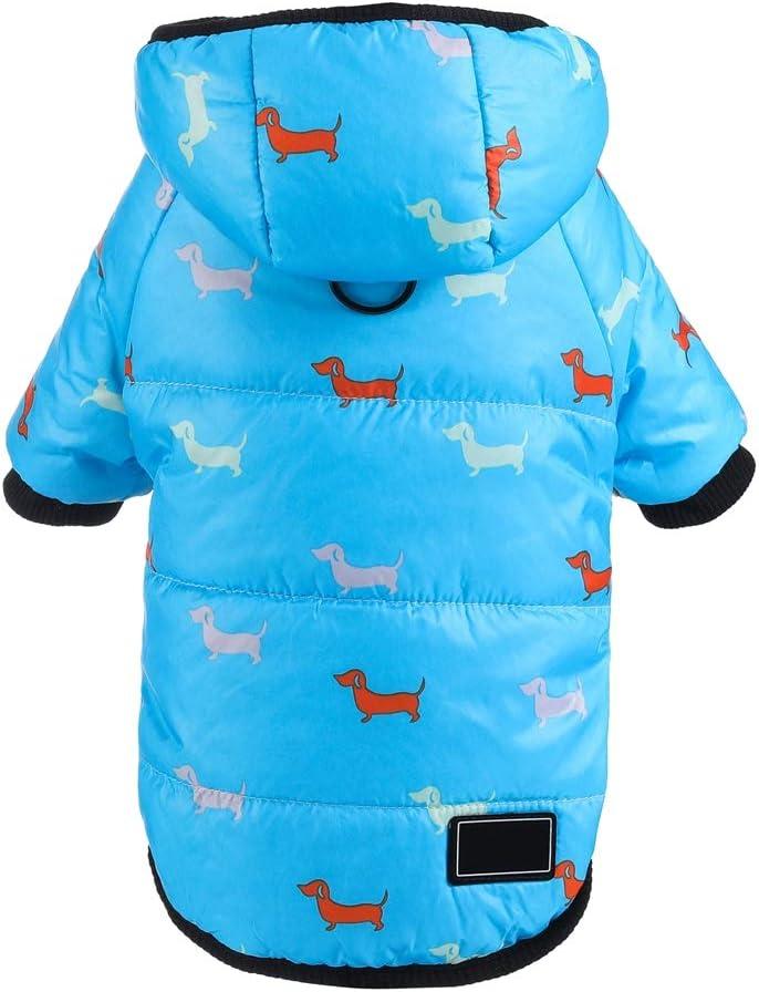 Handfly Winter Puppy Coats Waterproof Small Dog Jackets Puppy Clothes Chihuahua Coat Pet Dog Jacket Coat Clothes for Chihuahua Jack Russel Dachshunds Yorkshire Shih Tzu