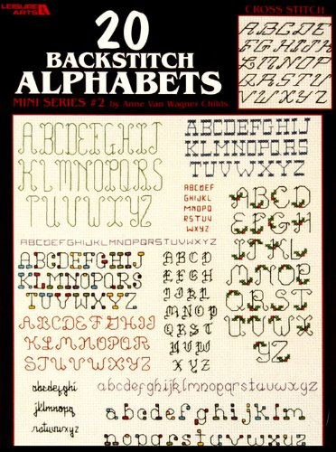 Alphabet Booklet (Leisure Arts 20 Backstitch Alphabets Mini Series #2 Booklet By The Each)