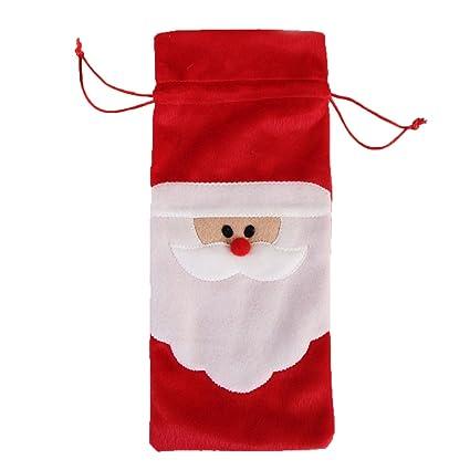 Homestia 5 Piezas Mezcla de Algodón Lavable Rojo Navidad Regalo Decoración de molde para horno de