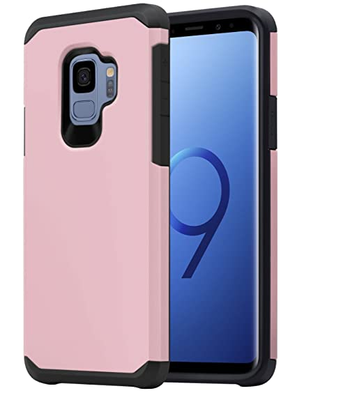 sale retailer 8fb95 0040f Galaxy S9 Case for Girls Women, OEAGO Shockproof Heavy Duty Protection Dual  Layer Armor Case Cover for Samsung Galaxy S9 S 9 (2018) (Rose Gold)