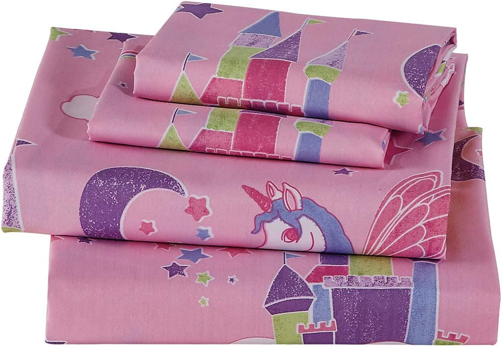 Kids Zone Home Linen Curtain Panel Set with Grommet Multi-Color Design New