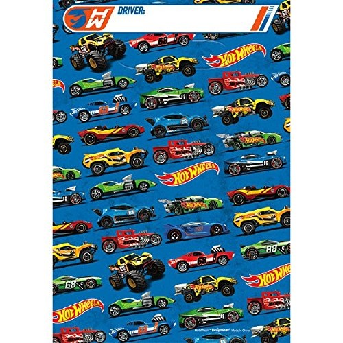 Hot Wheels Wild Racer Folded Loot Bags, Party Favor -