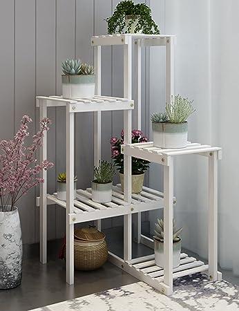 Moderne Blumentöpfe pflanzenregale wssf moderne einfache blumenregal massivholz