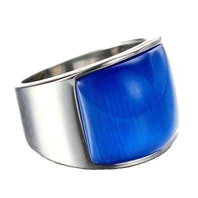 Aundiz Homme Bleu Acier Inoxydable Bague Polissage De Or Oeil vmN8wn0