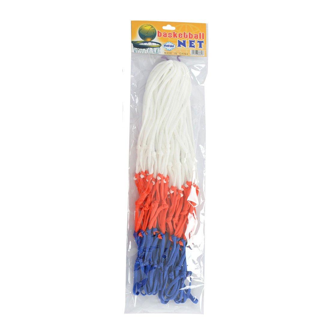 qianzhi Est/ándar de Nylon Hilo Deportes Baloncesto aro Malla Red Reborde Bola Bomba 12 bucles Blanco Rojo Azul 3 Colores Net