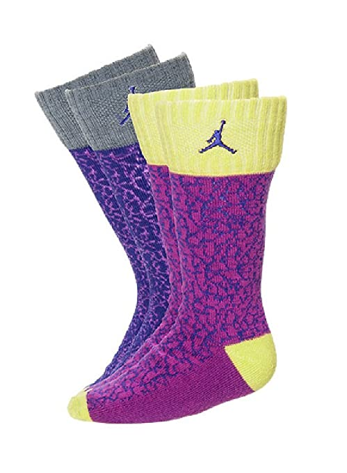 Jordan Retro elefante impresión para niña de calcetines de lote de 2, 3Y-5Y