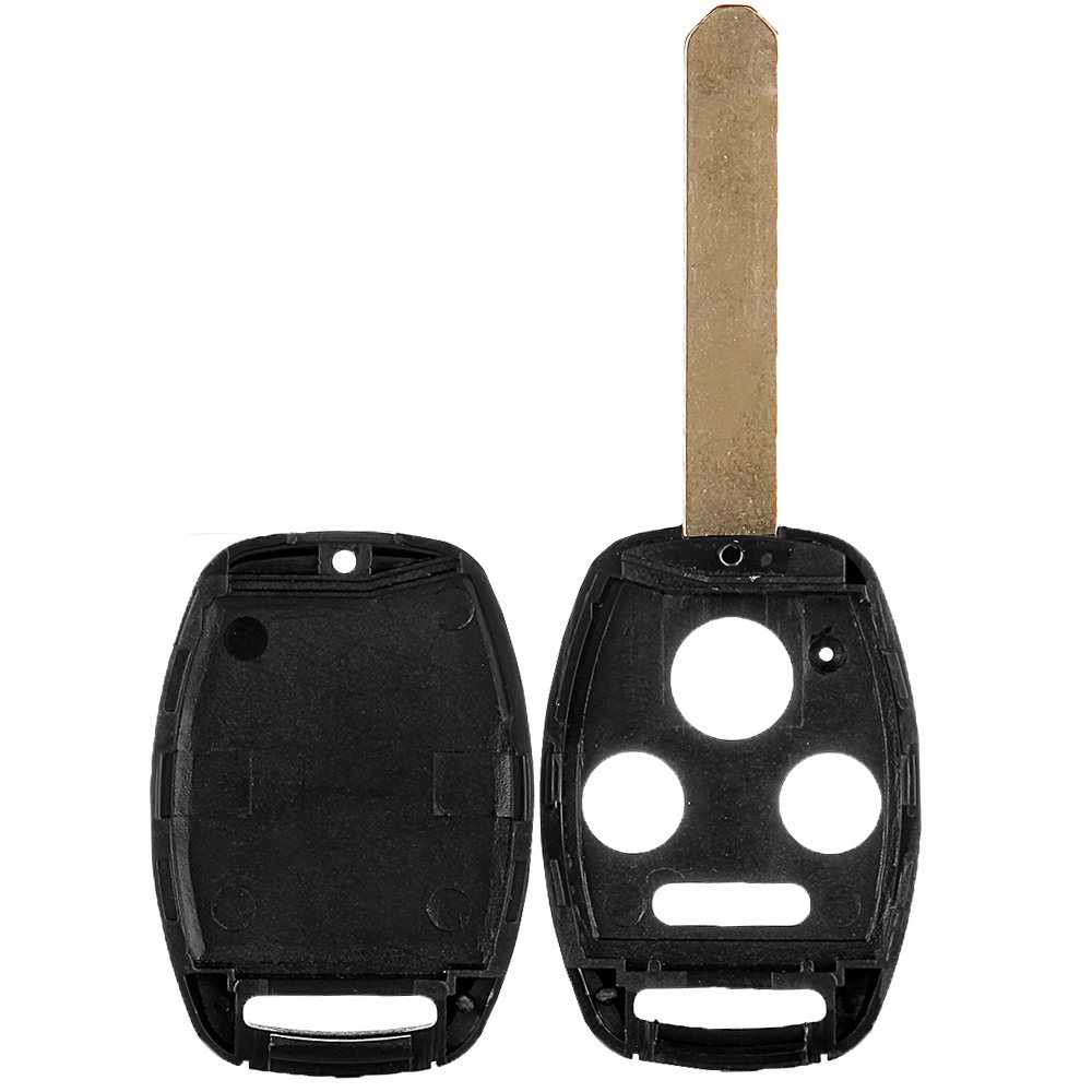 SCITOO Ignition Key Fob Shell Replacement fit for 1X 4 Button Uncut Keyless Fob Shell OUCG8D-380H-A KR55WK49308 MLBHLIK-1T Honda Civic CR-V CR-Z Accord Fit Pilot Insight Odyssey Accord Crosstour