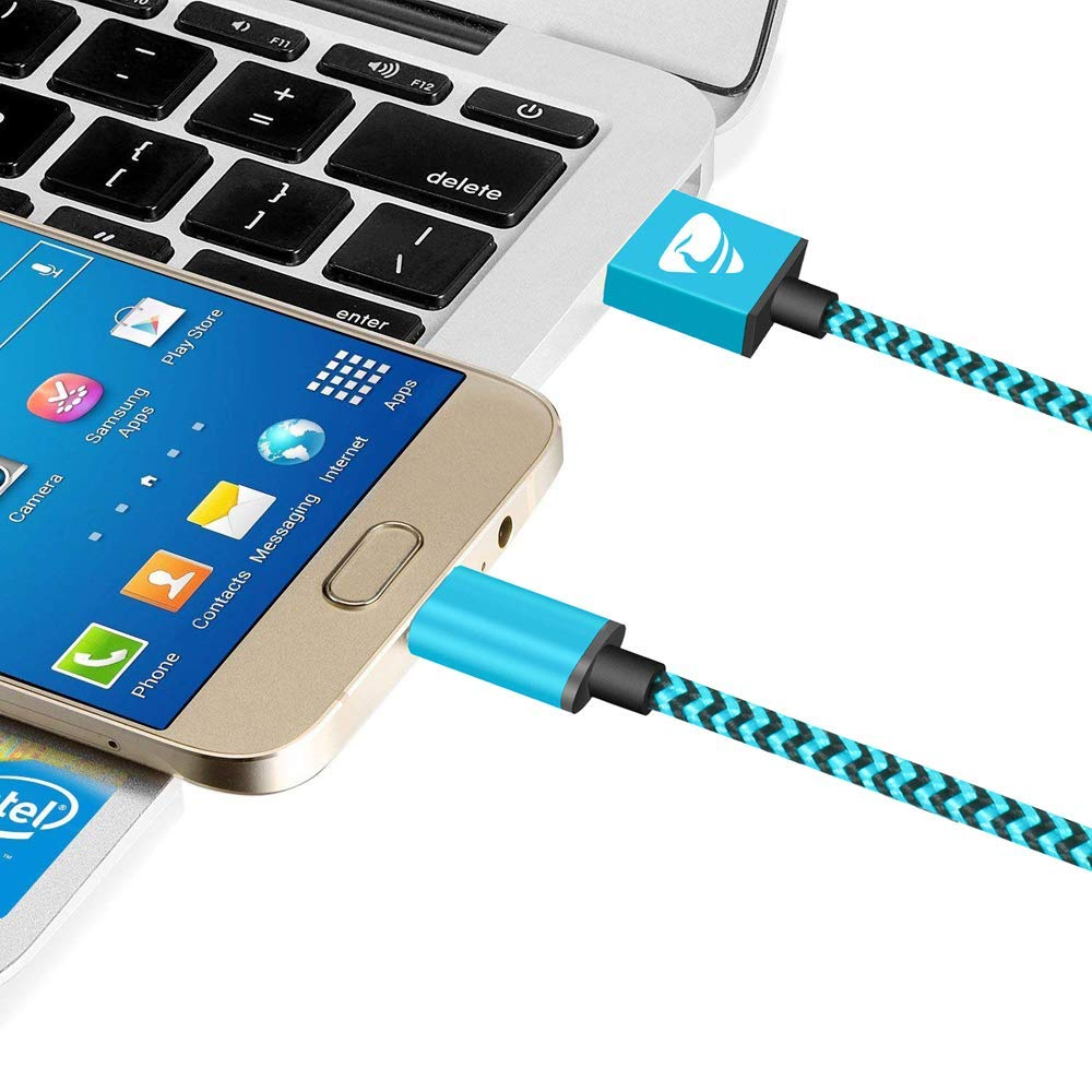 Portable Micro cable Nylon Braided Fast Charging USB Cable Compatible with Samsung 4 Pack// 0.5m+ 1m+ 1.5m+ 2m Micro USB Cable Yosou Charger Android Smartphone Sony Huawei PS4 and More