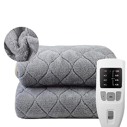 Manta eléctrica de franela AYQ con manta térmica de apagado automático, 4 grados de temperatura