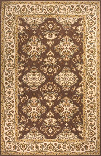Momeni Traditional Rectangle Area Rug 3'x5' Cocoa Persian Garden Collection Cocoa Persian Garden