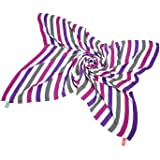 Happy Stripes Purple Cuski Great Swandoodle Bamboo Muslin Blanket XL