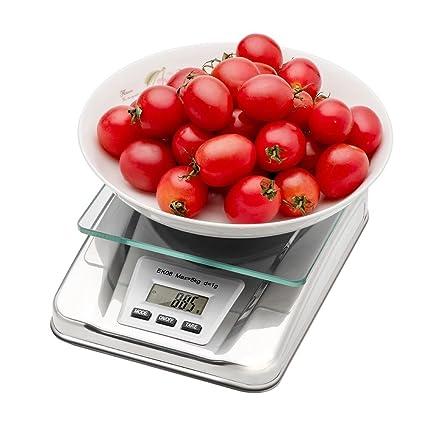 Digital Báscula Balanza de cocina con 5 kilos Resistencia y 1 G Balanza de precisión,