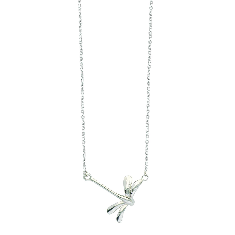 Excl.Adj E2W Dragonfly-Dc 030 CBL,Lob,Tg DiamondJewelryNY Silver Pendant