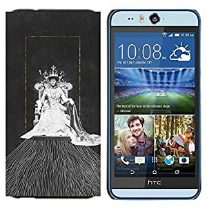 YiPhone /// Prima de resorte delgada de la cubierta del caso de Shell Armor - Reina Oro Acuarela Arte Moda - HTC Desire Eye M910x