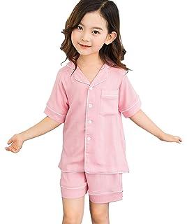 3bb2a79bab0a3 パジャマ 女の子 半袖 綿(100%) 上下セット ルームウェア ガールズ 男の子 部屋着
