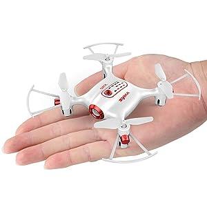 Newest Syma X20 Mini Pocket Drone Headless Mode 2.4Ghz Nano LED RC Quadcopter Altitude Hold White