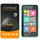 [2-Pack] Supershieldz for Nokia Lumia 635 / 630 Tempered Glass Screen Protector, Anti-Scratch, Anti-Fingerprint, Bubble Free, Lifetime Replacement Warranty