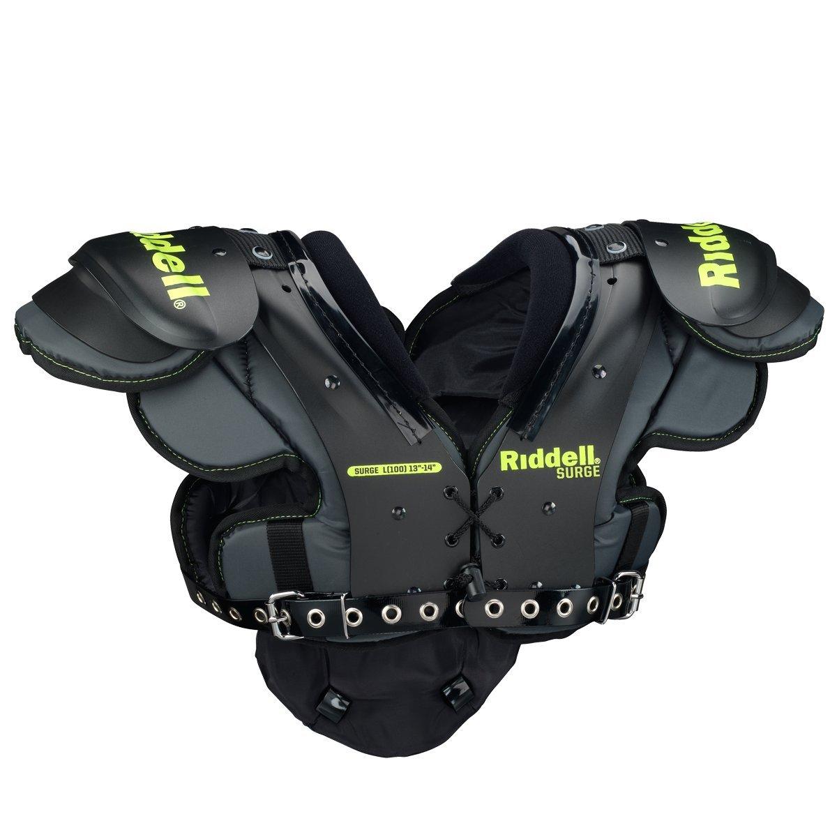Riddell Sports Surge ユースフットボールショルダーパッド ブラック/ボルト  X-Small