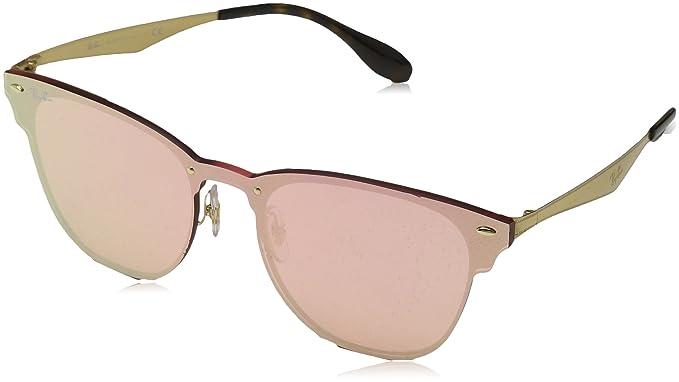 053ef1e640 Ray-Ban Kids 'acero unisex no polarizado anteojos de sol cuadrados de iridio ,