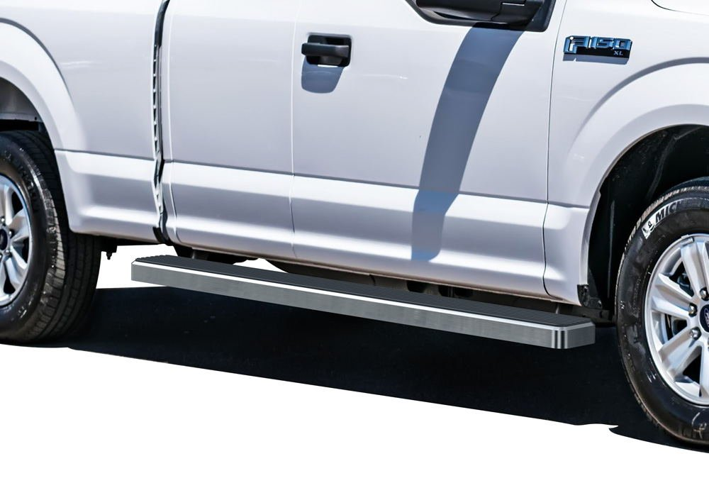Matte Black 5' iBoard Running Boards Fit 15-17 Ford F-150 Super Cab Nerf Bar Side Steps Tube Rail Bars Step Board APS Autoparts