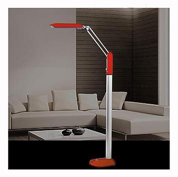 NIUZIMU Lámpara de pie LED, roja, Cuerpo de lámpara ...