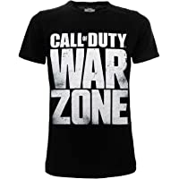 Fashion UK Camiseta Call of Duty Warzone con texto original oficial negro para adulto y niño