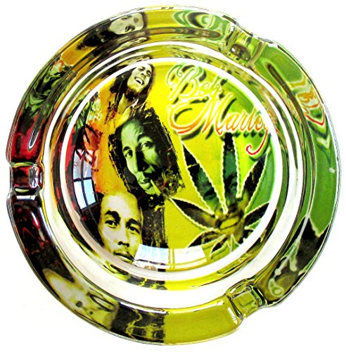 Bob-Marley-Abstract-Style-Marijuana-Weed-Round-Glass-Ashtray