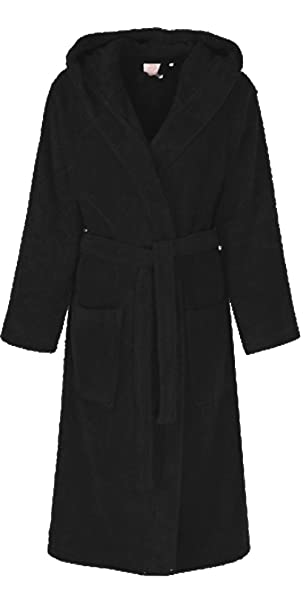 28a88bb2c8ad4 Unisex 100% Egyptian Cotton Luxurious Bathrobe Terry Towelling Hooded  Dressing Gown (UK Size S