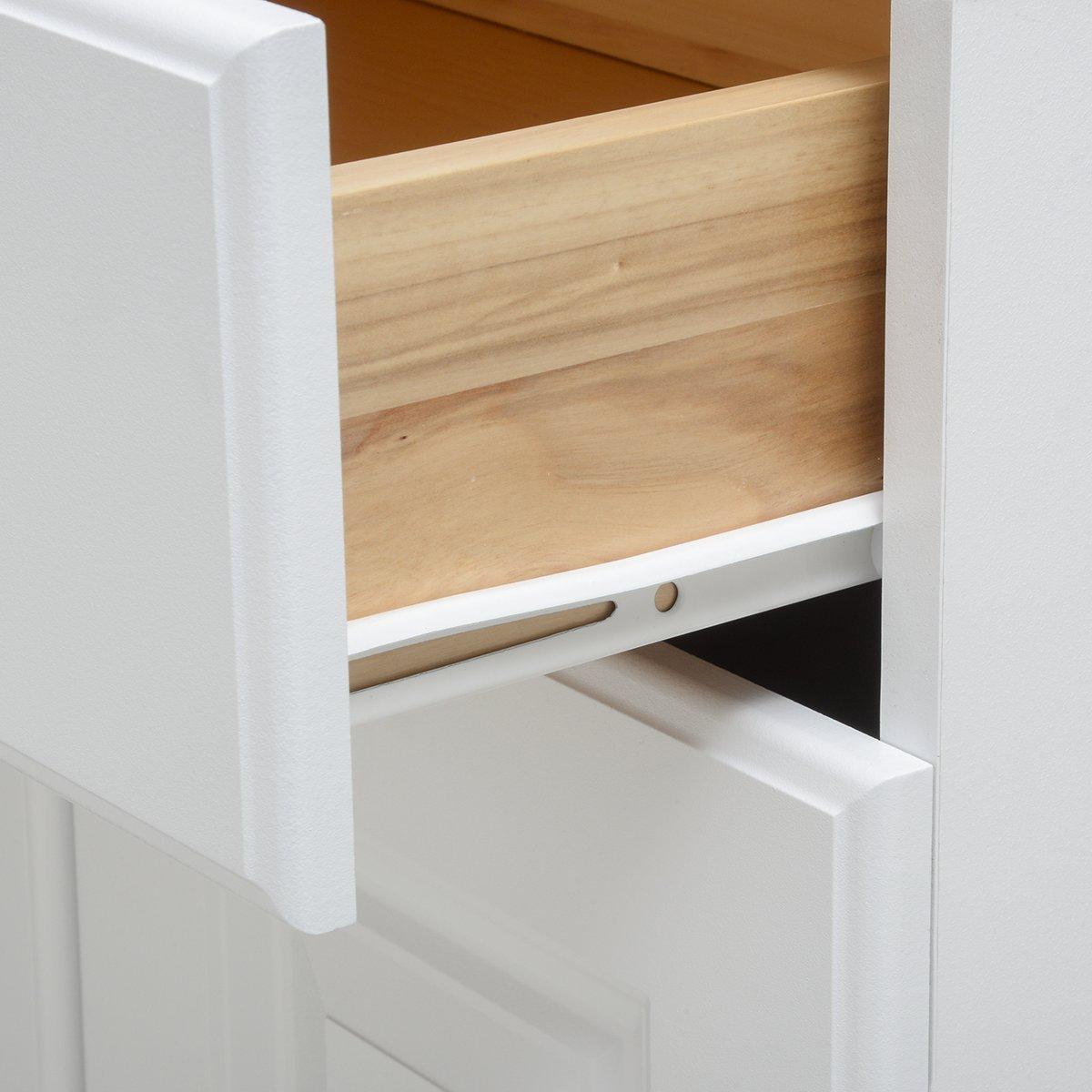 Verniciatura bianca a polvere confezione da 2 Basics Guide fisse per cassetti con fondo ad aletta 35,6 cm