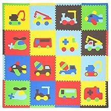 Tadpoles Playmat Set 16-Piece Transport, Multi