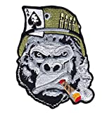 Gorilla Warfare Tough Ace Smoking Cigar Tactical Morale Velcro Patch PV00440-43
