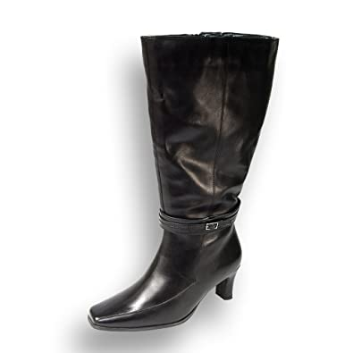 37e45092075b FIC PEERAGE Brook Women Wide Width Leather Knee High Boots for All Occasions