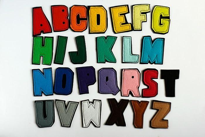 Amazon.com: felt alphabet letters personalize monogram applique