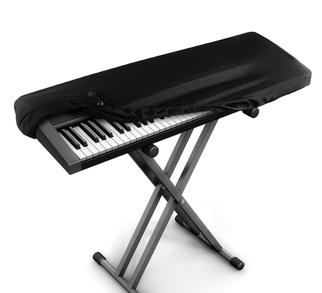 JamBer Stretchable Electronic Piano Keyboard Dust Cover for 88 Key Keyboard, Black SWEET-809