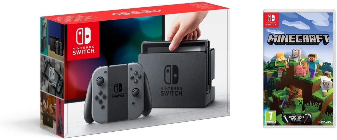 Nintendo Switch - Consola Color Gris + Minecraft: Amazon.es: Videojuegos