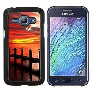 - Sunsine Fly Man sea - - Cubierta del caso de impacto con el patr??n Art Designs FOR Samsung Galaxy J1 J100 J100H Queen Pattern