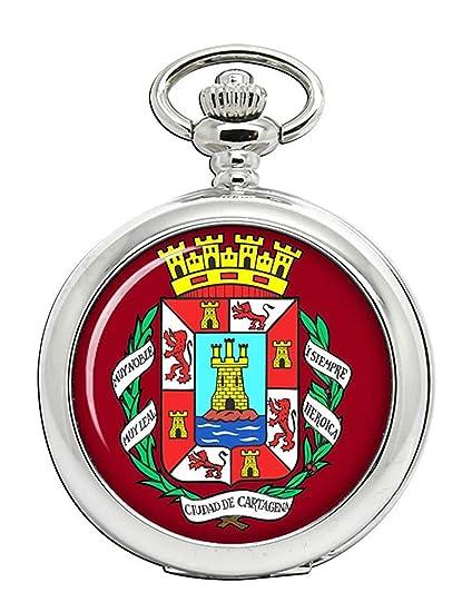 Cartagena (España) Reloj Bolsillo Hunter Completo: Amazon.es: Relojes