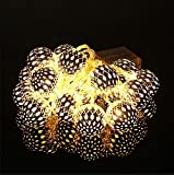 Techyshop Metal Ball LED White String Light For Diwali Decoration