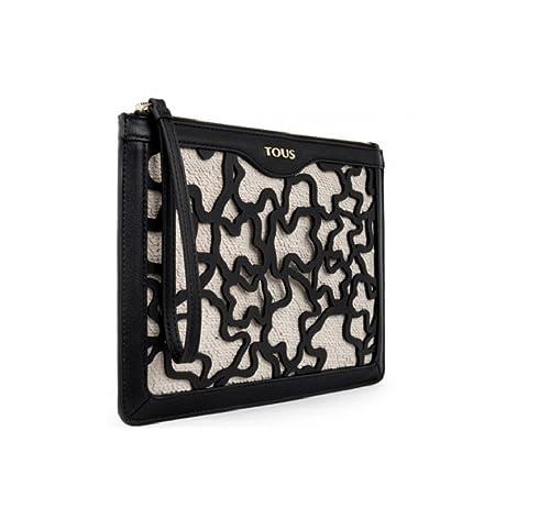 Tous Cartera Clutch Kaos Shock de Lona en color perla: Amazon.es: Zapatos y complementos