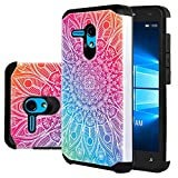 Jitterbug Smart (5.5' Screen) Case, CimdaUS Drop Protection Shock Absorption Hybrid Dual Layer Armor Protective Defender Case Cover for Jitterbug Smart Easy-to-Use 5.5' Smartphone (B-2)