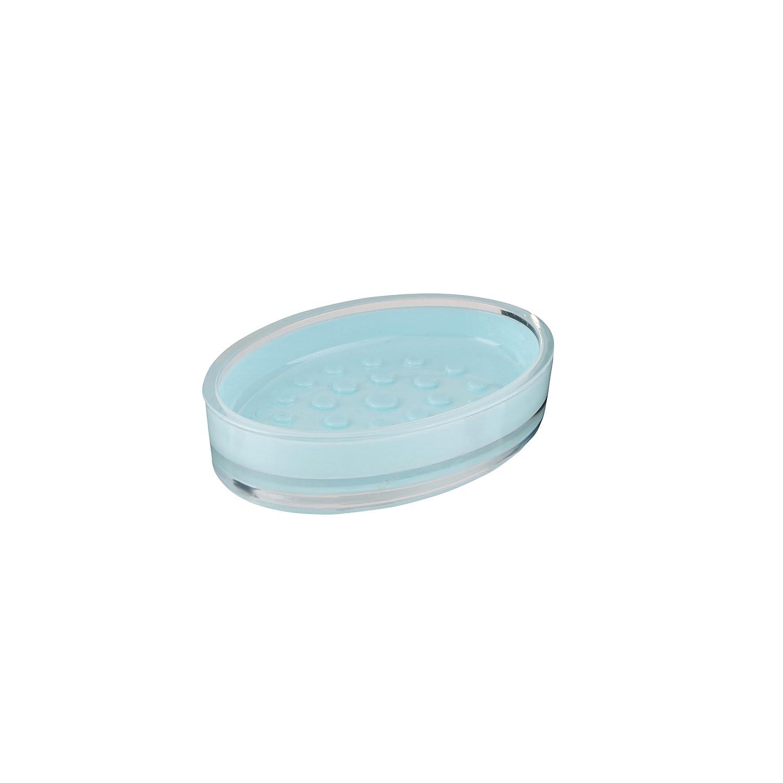 Axentia 128347bicchiere per spazzolino da denti Graz, Spazzolino da denti titolare Finemente Lavorato In Plastica, Colore: Azzurro, 7,5x 7,5x 11,5cm