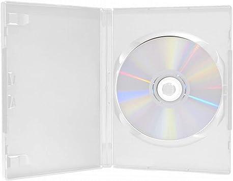 Paquete de 100 Cajas Individuales para CD y DVD de 14 mm ...