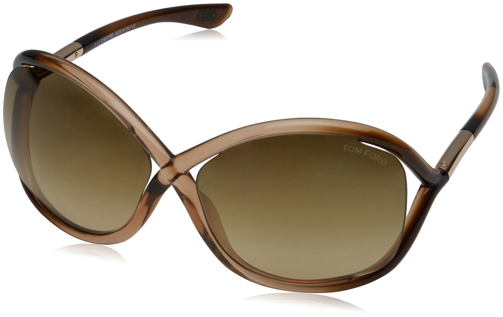 Tom Ford Whitney Tf9 74f Metallic Brown Gradient Sunglasses