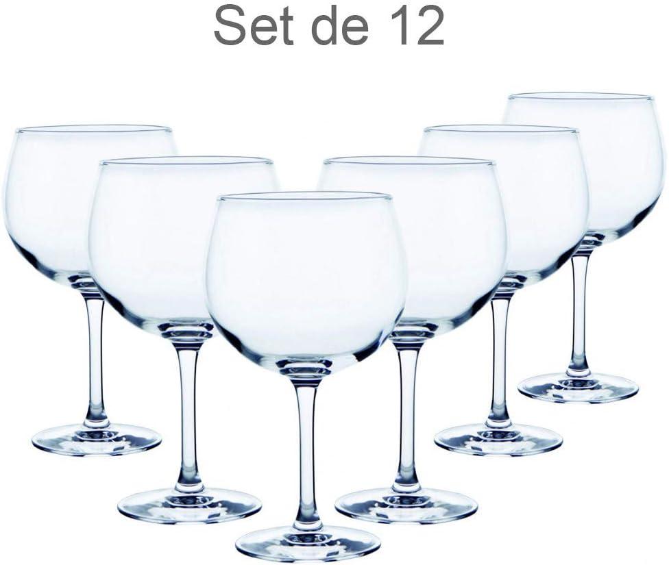 Vajilla//Menaje Elegante 12 Uds Vidrio Gin Tonic Hogar y Mas Copa Combinados 70 Cl Basicos Set de 12.