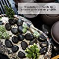 GraceFINE Black Pebbles Decorative Ornamental River Rocks Tumbled and Polished Stones for Landscaping, Home Décor, Crafts, Art Project