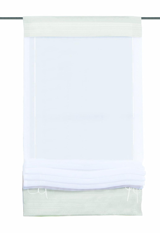 Home fashion 57105-801 - Tenda a pacchetto in voile universale, 140 x 60 cm, colore: Bianco