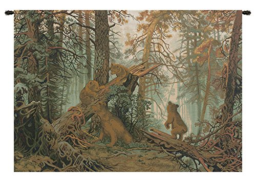 Morning in Pinewood Italian Tapestry Wall Hanging