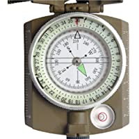 HOME BUY Professional Multifunction Military Army Metal Sighting High Accuracy Waterproof Compass (Green)