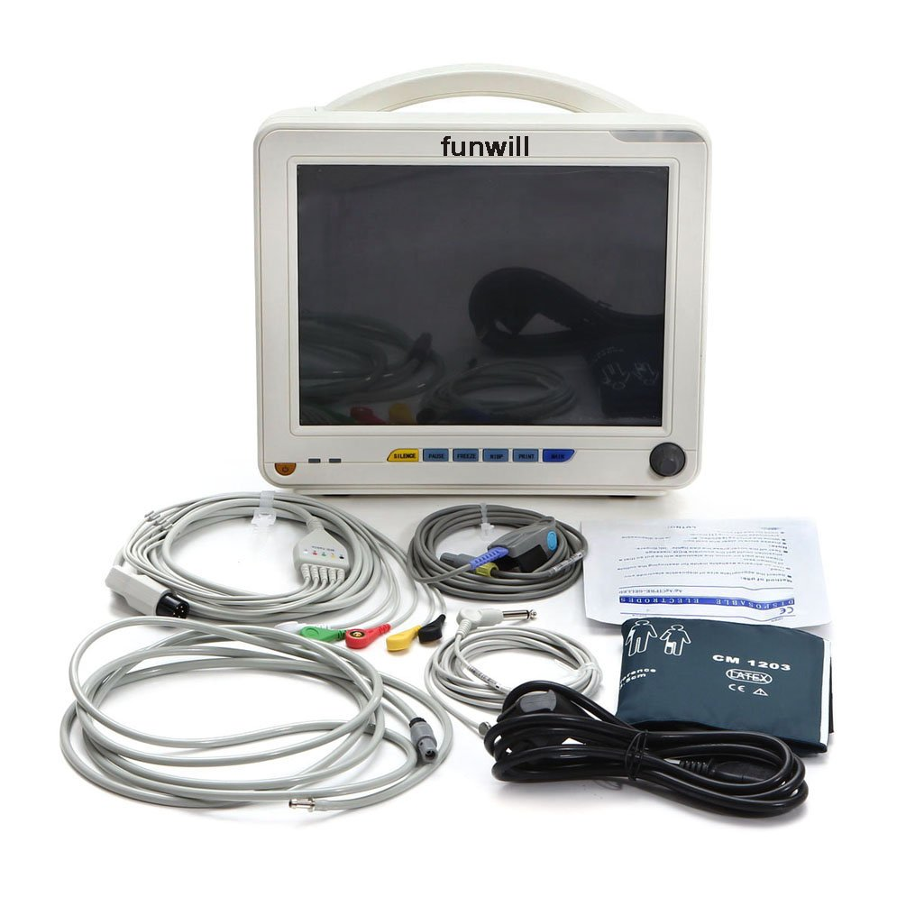Funwill 6-parameter Monitor 9000A with Thermal Printer ,White (Shipping from USA) by Funwill
